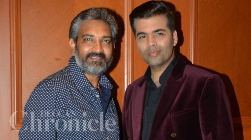 Karan Johar with Rajamouli.