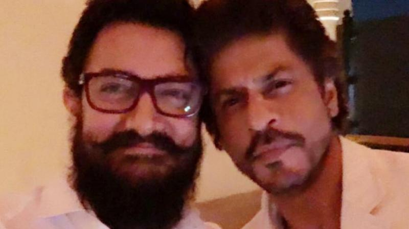 Aamir Khan with Shah Rukh.