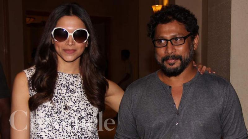 Deepika Padukone snapped with her 'Piku' director Shoojit Sircar.