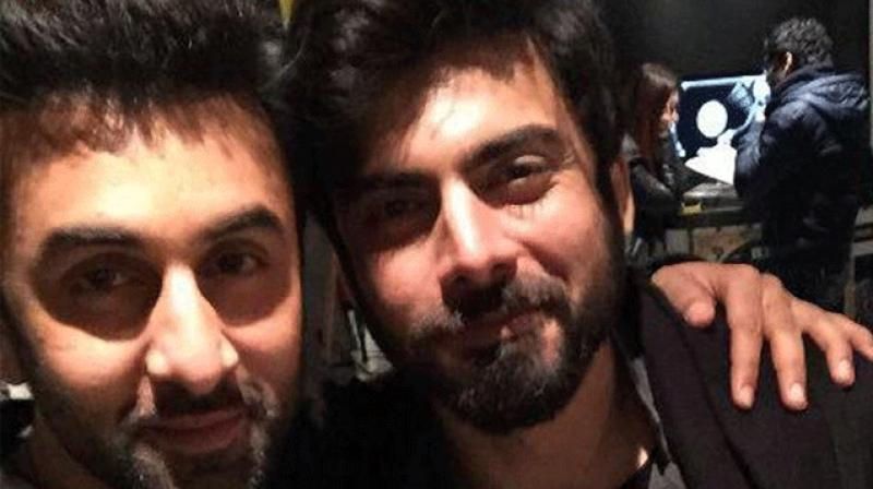 Fawad Khan snapped with Ranbir Kapoor.