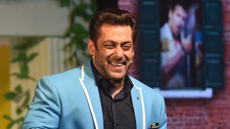 Bollywood Salman Khan at the launch of the TV show Bigg Boss 11 in Mumbai. (Photo: PTI)