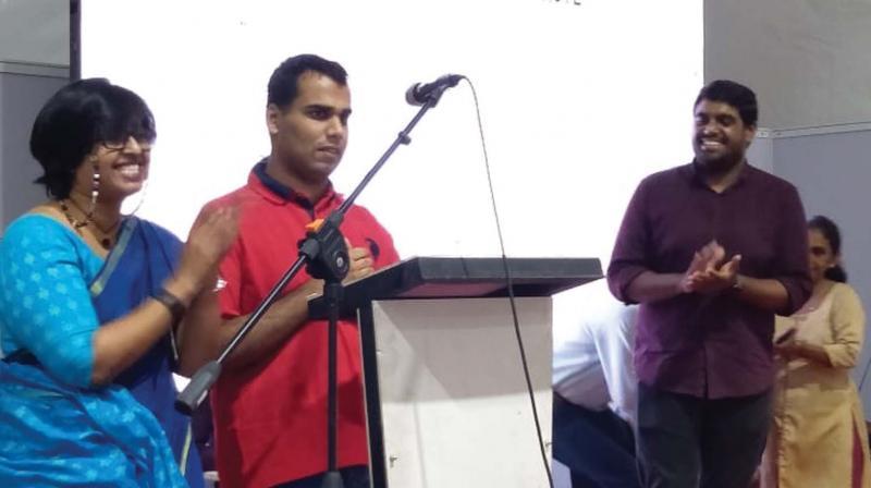 Hesham cheers Sujith Krishnan while Day Prediction