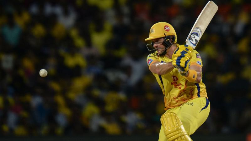 Watson had gone without a fifty in his first 10 innings of the ongoing Indian Premier League before striking 96 off 53 balls on Tuesday night to guide Chennai Super Kings to a win over Sunrisers Hyderabad. (Photo: AFP)