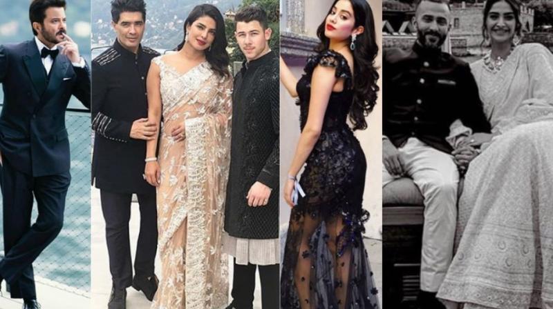 Anil Kapoor, Manish Malhotra, Priyanka Chopra, Nick Jonas, Janhvi Kapoor, Anand Ahuja and Sonam K Ahuja in Italy for the engagement.