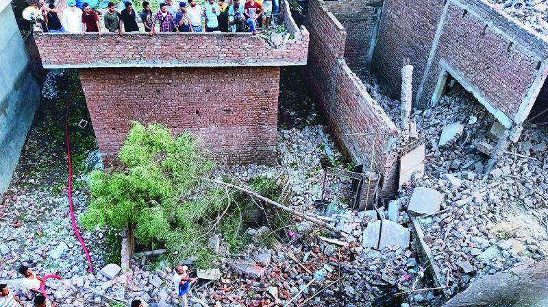 At least 23 people were killed and 27 injured many of them seriously after an explosion at a firecracker factory in Punjab's Gurdaspur district on Wednesday. The toll is expected to rise since many more labourers are buried under the debris of the building located in a residential area in Batala.