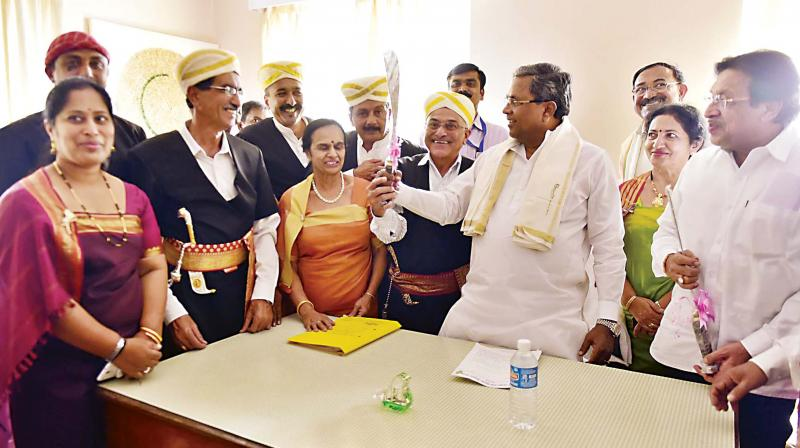 BJP stages 'Jail Bharo' against Siddaramaiah