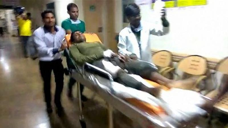 A jawan is being taken to a hospital after the maoist attack in Sukma, Chhattisgarh, on Saturday. (Photo: File/PTI)