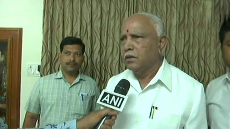 BJP's chief ministerial candidate, BS Yeddyurappa also projected that his party would win between 145 and 150 seats in the 224-member assembly. (Photo: ANI | Twitter)