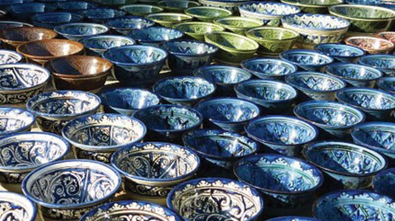 In the 1950s, Gurcharan Singh brought the blue glazed tile to Delhi - the first step in bringing about a versatile culture of ceramic art and blue pottery to the capital.