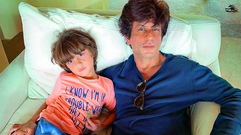 AbRam Khan was born to SRK and Gauri Khan through surrogacy.