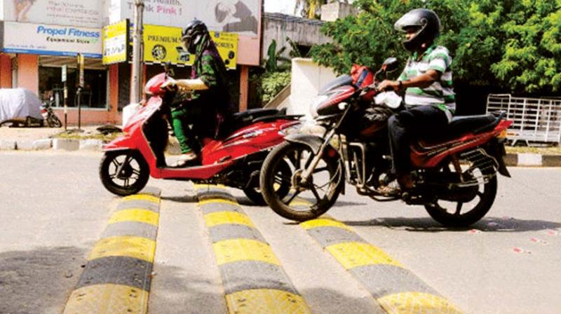 Indian Road Congress guidelines mandate that road humps in residential areas should be 3.7 metre wide and 0.10 metre high, to make sure that the gradient is gradual.