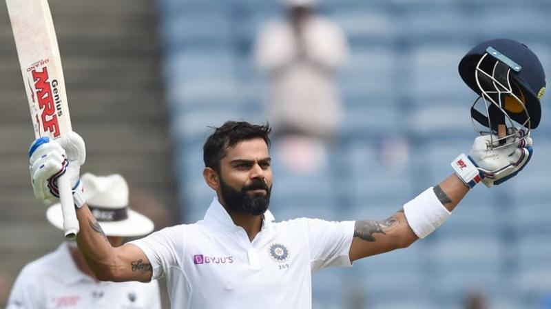 After India thumped Bangladesh by an innings and 130-runs, in the first of the two-match Test series, Indian captain Virat Kohli etched his name in the history books, by becoming the Indian captain with most number of innings win. (Photo:AFP)
