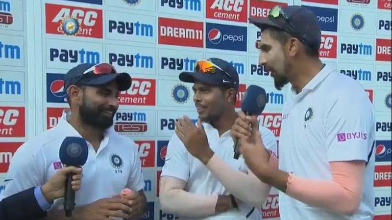 After beat Bangladesh by an innings and 130-runs, in the two-match Test series, Indian pacers Ishant Sharma, Mohammed Shami and Umesh Yadav gave a glimpse of the bond they share even off the field. (Photo:BCCI)