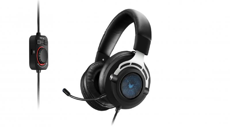 Available in black color, the device will have a blue LED light on the earcup. In the box, it will have an attachable microphone with a controller.
