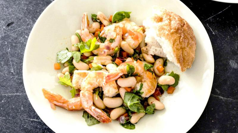The dish is a perfect combination of shrimps, vegertables and herbs. (Photo: AP)