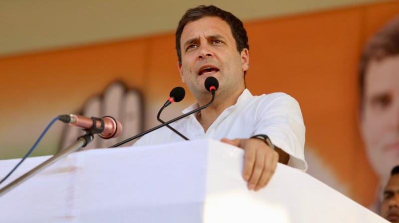 Congress president Rahul Gandhi on Friday alleged that the CBI had aided fugitive tycoon Vijay Mallya's 'great escape' by changing the 'detain' notice to 'inform'. (Photo: File | INC Twitter)