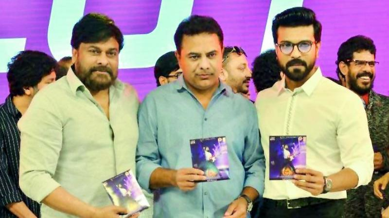 The dynamic young leader attended the pre-release function of Vinaya Vidheya Rama that stars Ram Charan and has been directed by Boyapati Srinu.
