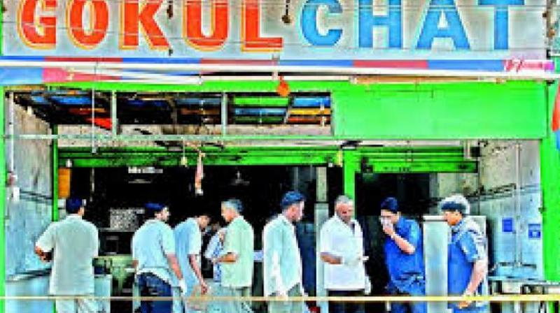 Two synchronised blasts at Gokul Chaat, a popular eatery on August 25 2007, killed 32 people and left 47 injured, and an open air theatre in Lumbini Park close to the state secretariat where 12 people died and 21 wounded. (Photo: PTI)