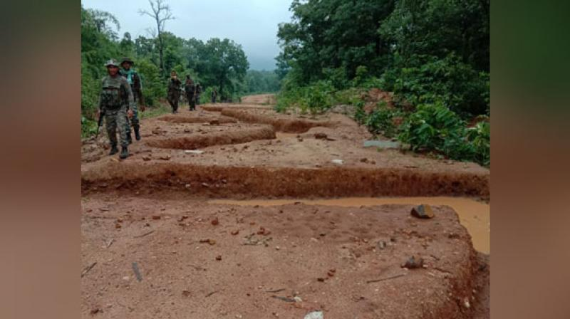 It was informed by villagers of Kondasawli that a meeting of around 250 Naxals took place near their village prior to August 15 where 300 people of other villages were also called and directed by Naxals to oppose the security forces.  (Photo: ANI)