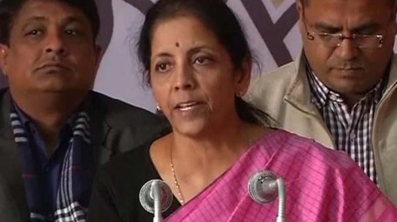 Commerce and Industry Minister Nirmala Sitharaman.