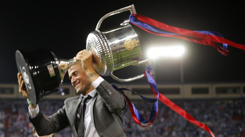 Luis Enrique never lost a Copa del Rey home-and-away series since he took over Barcelona, a run of 12 straight triumphs ahead of the final. (Photo: AP)