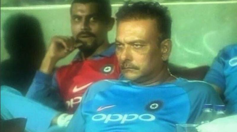 Image result for ravi shastri drunk