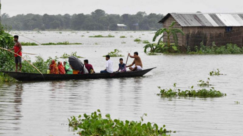 The 17 affected districts are Dhemaji, Lakhimpur, Biswanath, Sonitpur, Darrang, Baksa, Barpeta, Nalbari, Chirang, Bongaigaon, Kokrajhar, Nlorigaon, Nagaon, Golaghat, Majuli, Jorhat and Dibrugarh. (Photo: AFP)