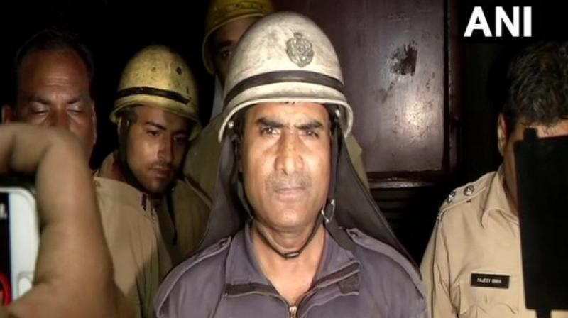 Both the workers had gone inside the tank for cleaning purpose, however, they inhaled the poisonous gas, said fire officer Ashok Kumar Jaiswal. (Photo: ANI)
