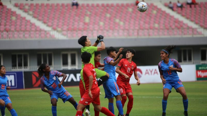 India, ranked 62, displayed their intentions to grab the match by the scruff against Myanmar, ranked 42 in the FIFA ladder. (Photo: Twitter / Indian Football Team)
