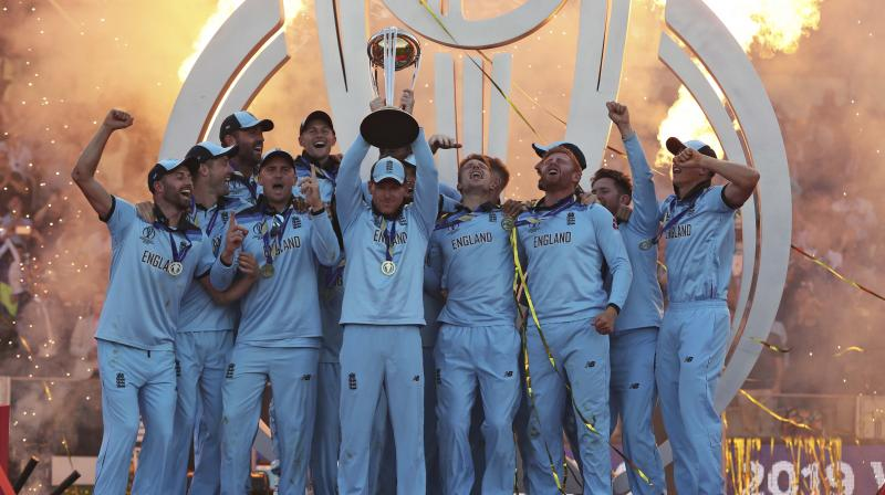 England were crowned as the winners due to superior boundary count. (Photo: AP)
