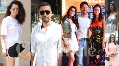 Bollywood celebrities like Vicky Kaushal, Kangana Ranaut, Tiger Shroff, Tara Sutaria, Ananya Panday, Shilpa Shetty Kundra and others were snapped in various parts of country. (Photos: Viral Bhayani)