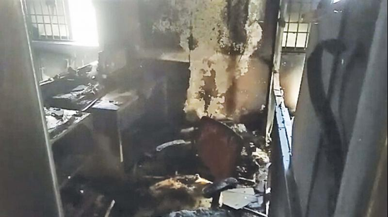 Chennai: Short circuit causes fire in Pammal Syndicate Bank