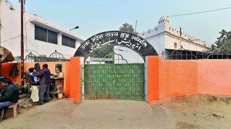 Haj house repainted after protest, police station in Lucknow turns saffron