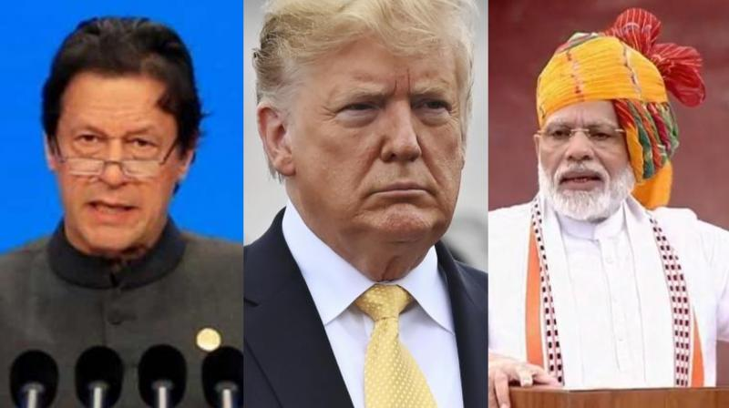 'I get along with both countries very well,' Trump said while responding to a question on his assessment of the situation between India and Pakistan. (Photo: File)