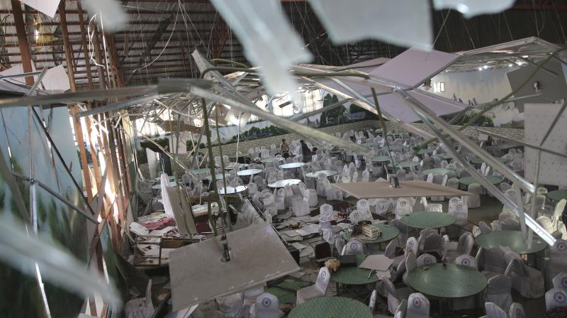 Among the 160 people wounded at the wedding blast, many are in critical condition, some not well enough to undergo surgery, said a second senior interior ministry official. (Photo: AP)
