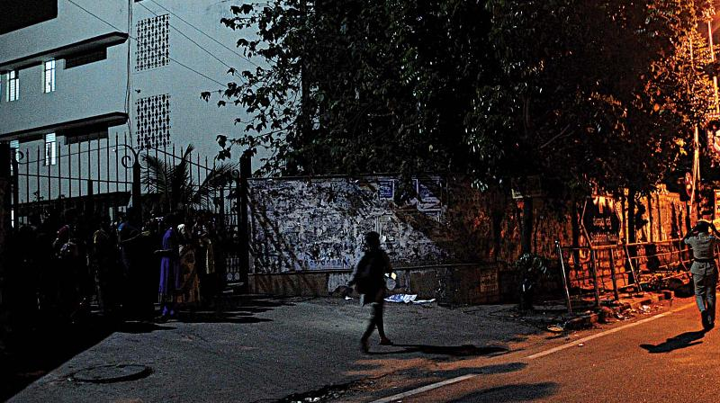 The Maharani's College Hostel on Sheshadri Road.
