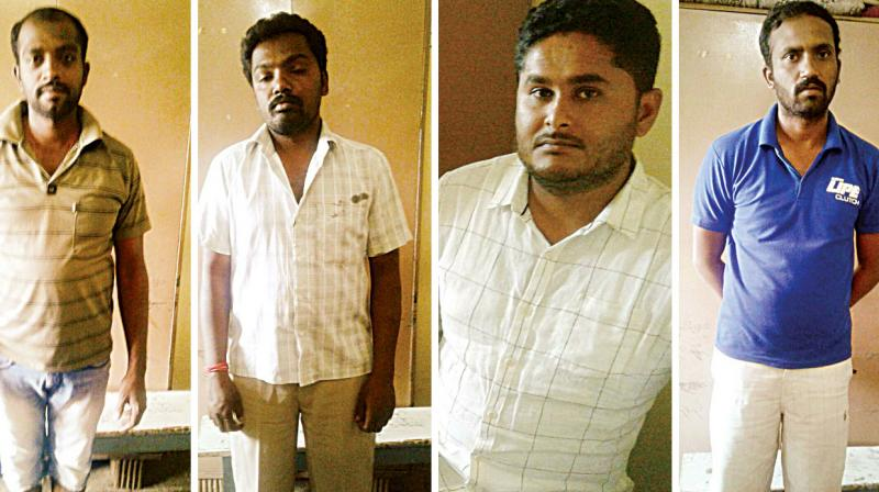 The accused have been identified as Manjuanth, Ravi, Krishna and Praveen.
