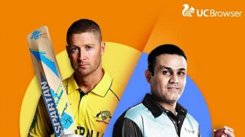 Virender Sehwag and Michael Clarke on WeShare channel.