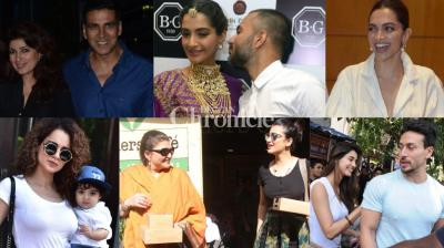 Numerous B-Town stars stepped out with family members and close ones, while some were seen alone in Mumbai and Delhi on Saturday. (Photos: Viral Bhayani)