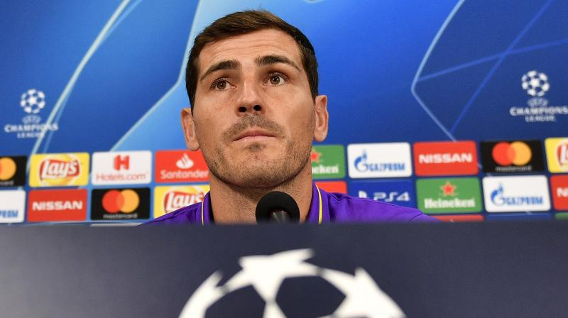 Casillas, a three-time Champions League winner with Madrid, is looking to lift the trophy for a fourth time as Porto face last year's runners-up Liverpool in the quarter-finals in April. (Photo: AFP)