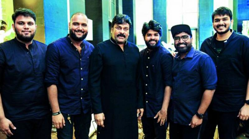 Team Jammers with Tollywood actor Chiranjeevi