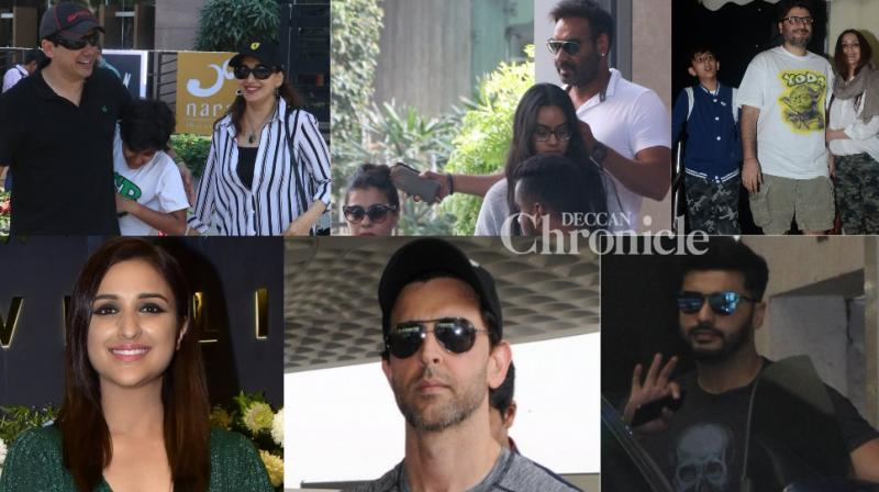 Bollywood stars were clicked with their family and during their solo outings by the paparazzi in Mumbai on Saturday. (Photo: Viral Bhayani)