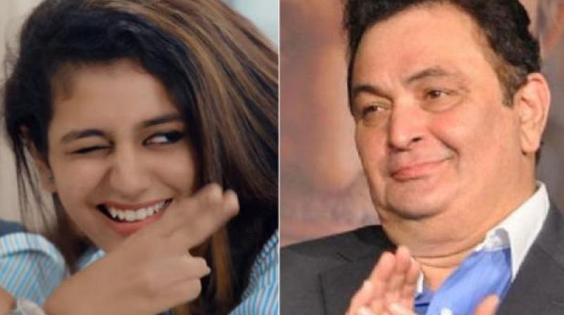 Rishi Kapoor floored by Priya Prakash Varrier, predicts 'huge stardom' for her