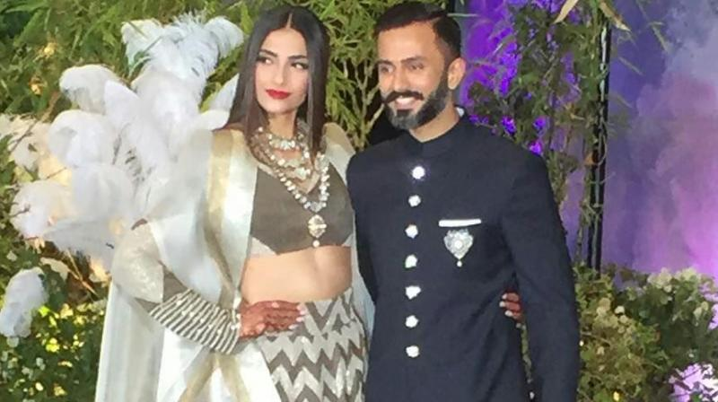 Sonam Kapoor Wedding.First Look Sonam Kapoor Gets Shimmery As Mrs Anand Ahuja At