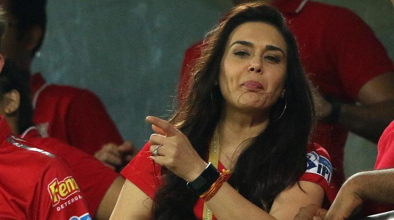 """A video posted by a Twitter user @jogtweets indicate that KXIP co-owner Preity Zinta might have said, """"I am just very happy that Mumbai is not going to the finals..Really happy"""" following Mumbai Indians' loss against Delhi Daredevils. (Photo: BCCI)"""