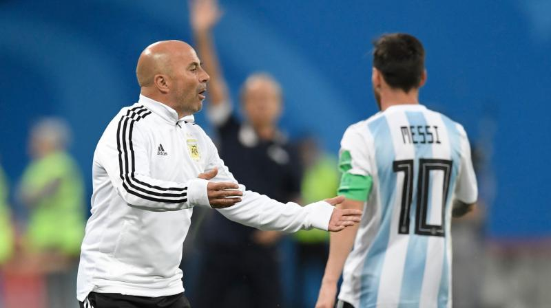 Sampaoli said expectations that Argentina would win the tournament emanating from the country's football federation stifled the creativity and success of Messi and his fellow players. (Photo: AFP)