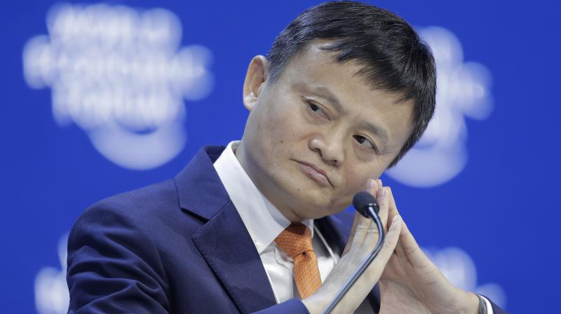 Alibaba founder Jack Ma listens during the annual meeting of the World Economic Forum in Davos, Switzerland. (Photo: AP)