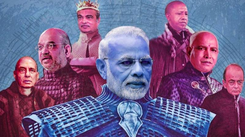 Congress' tweet gave the show's tagline a twist and cast Team Modi as characters. (Photo:INCIndia Twitter)