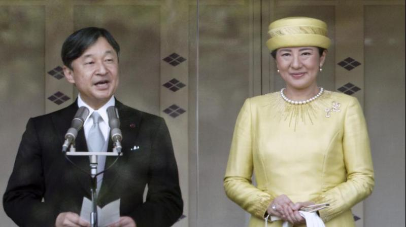 Pledging to work as a symbol of the people, Naruhito, 59, was formally invested as emperor the day after. (Photo: AP)