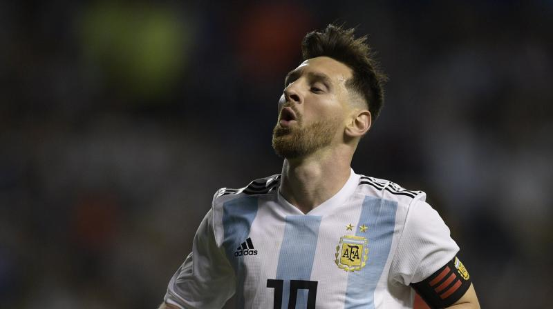 Messi, who will turn 31 during the World Cup, believes Spain, Brazil, Germany, France and Belgium are the leading contenders for the title.(Photo: AFP)